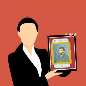Bild in einer Museums-App
