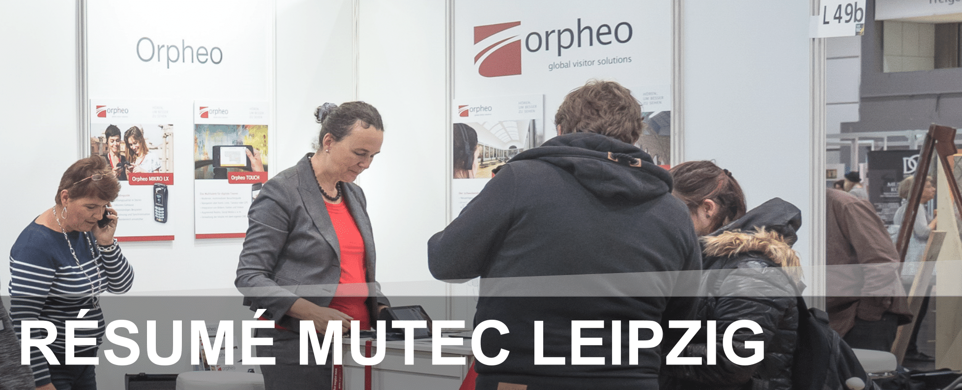 MUTEC Messestand Orpheo Audioguides