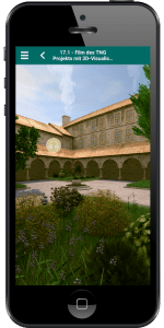 Smartphone mit Museumsapp Virtual Augmented Reality