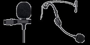 schwarzes-Nackenbügelmikrofon-und-Ansteckmikrofon-für-Tour-Guide-Systeme-Orpheo