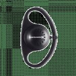 Schwarzer Einohrhörer mit Gummischlaufe von Orpheo