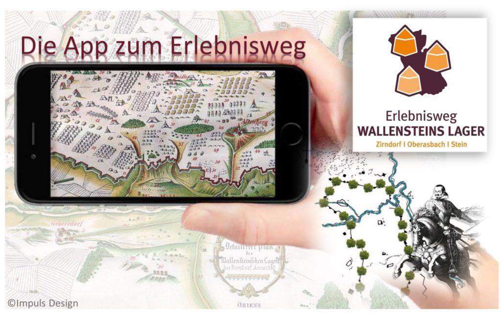 Werbegrafik-zur-Audioguide-App-Wallensteins-Lager