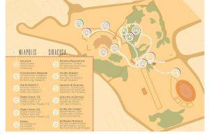 La mappa della Neapolis realizzata da Orpheo con tutte le attrazioni