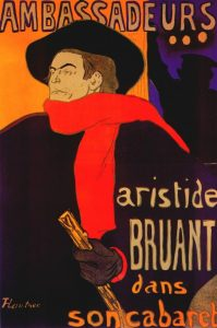 Aristide Bruant nel suo suo cabaret (1893)